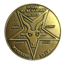 custom plating antique gold Coin High quality Custom made metal in god  jesus coin hot sales Commemorative cross coins