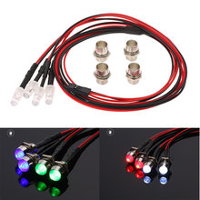 4 LED Verlichting Kit 2 Wit 2 Rood voor 1/10 1/8 Traxxas HSP Redcat RC4WD Tamiya Axiale SCX10 D90 HPI RC Auto LED lamp(China)