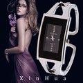 Женские часы-браслет XINHUA кварцевые наручные часы со стразами Модные Серебристые повседневные Прямая поставка из нержавеющей стали Relojes Mujer - фото