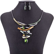 MS1505033 High Quality Jewelry Sets Lead&Nickle Free Spring Fashion Colors Crystal Bling Necklace New Coming Party Gifts