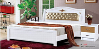 high quality bed Oak Bedroom furniture bed solid wood 6752