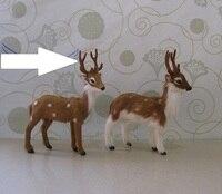 13x17cm Christmas Deer Model Toy Polyethylene Furs Reindeer Handicraft Christmas Decoration Gift A2515