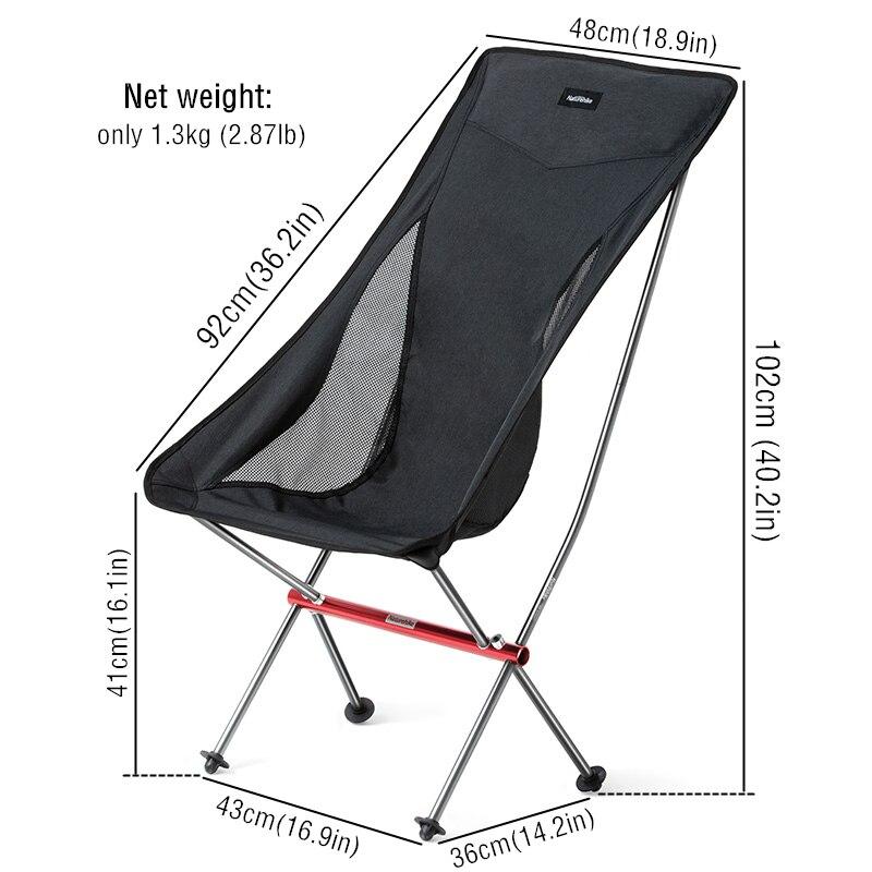 Chaise de pique-nique de pêche pliante extérieure portative légère compacte de naturetrekking plier la chaise de plage siège de chaise de Camping pliable - 5