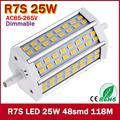 118mm Lâmpada LED SMD5730 R7S 85-265 V Regulável R7S J118 118mm Lâmpada LED Lâmpada Luz 360 grau Lâmpada Halógena Holofote