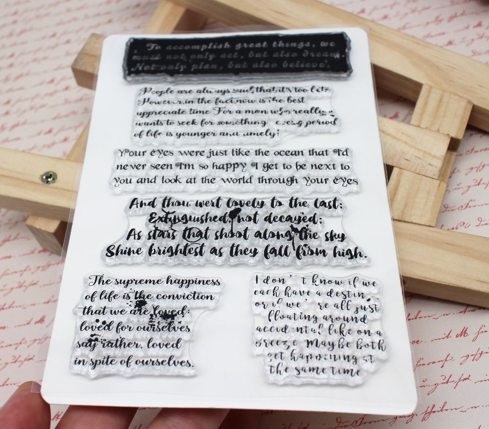 Love essay Transparent Clear English word/letter Silicone Stamp/Seal for DIY scrapbooking/photo album Decorative clear stamp image