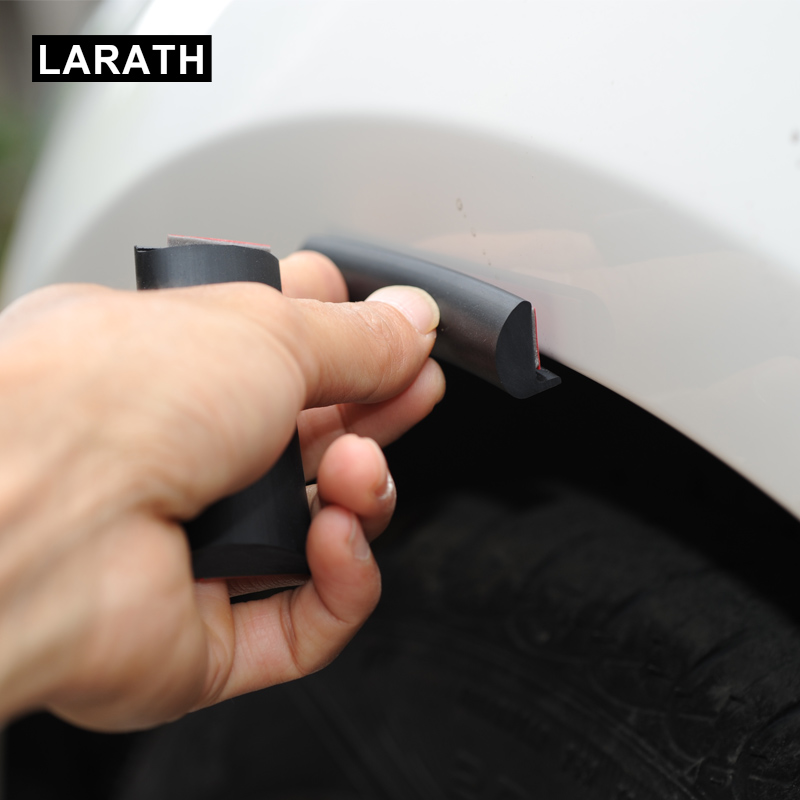 Car Fender Flare Extension Wheel Eyebrow Protector Lip Wheel-arch Trim Wheel Eyebrow Arch Decorative Scratch Proof Black Rubber 1 5m carbon fiber high strength wheel eyebrow arch decor strip car tires eyebrow for round rubber car protect sticke