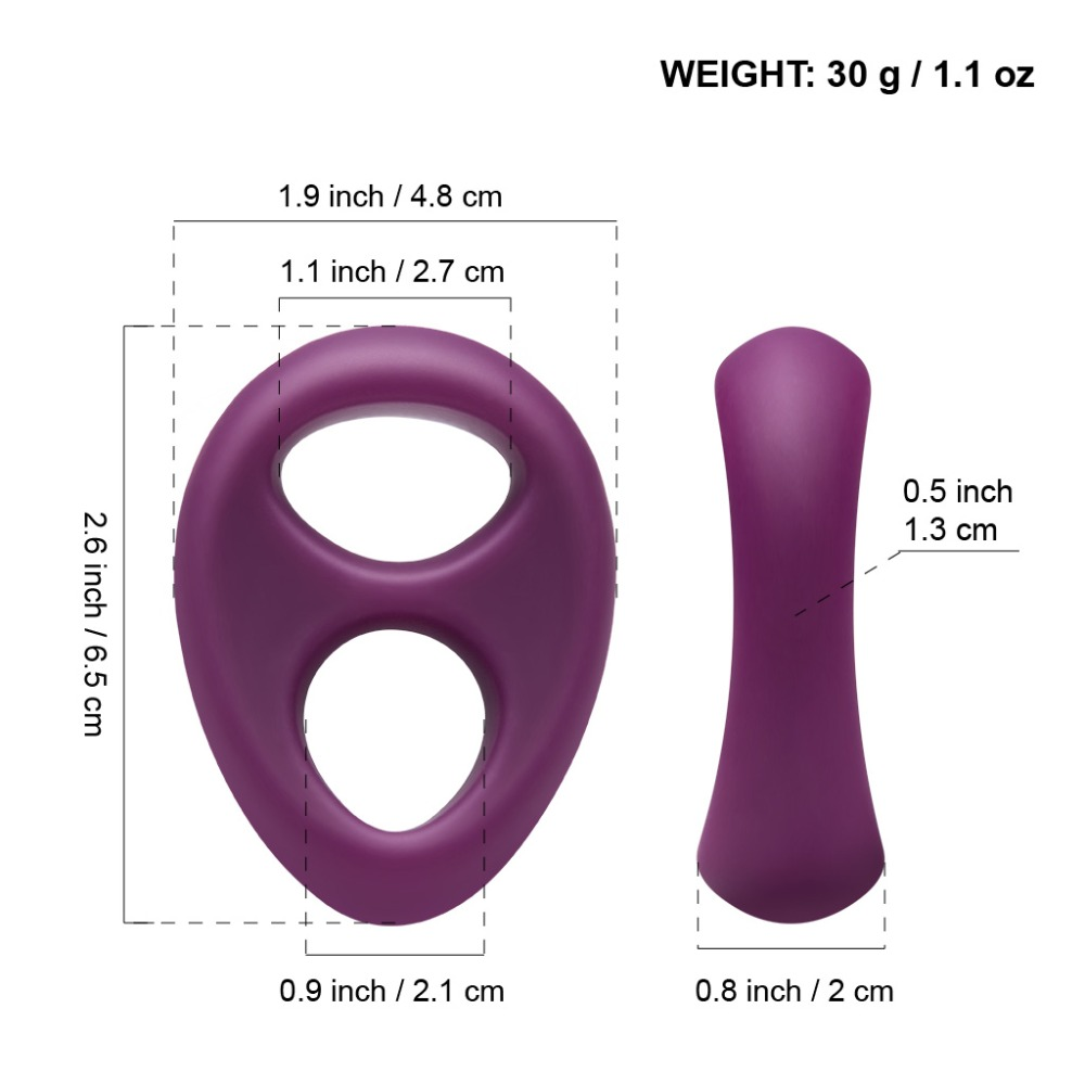 Luvkis Double Ring Dust proof Odorless Top Grade Liquid Silicone Rings Time Delay Penis Sex Toys