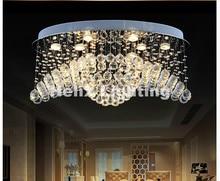 Neue Ankunft Kristall Kronleuchter Leuchte Ovale Form Lampe Unterputz Beleuchtung Esszimmer An