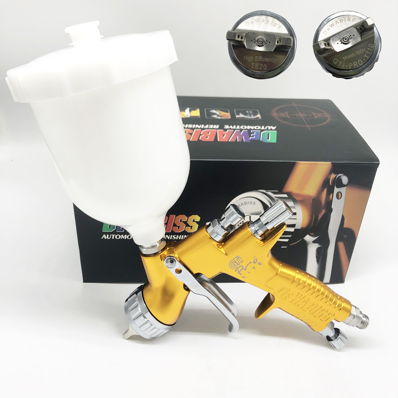 Dewabiss GTI Spray Paint Gun High Quality TE20/T110 Pro Lite Airbrush Car Airless Painting 1.3mm Nozzle Sprayer