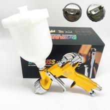 Dewabiss gti pistola de pintura spray alta qualidade te20/t110 pro lite airbrush carro pintura mal ventilada 1.3mm bico pulverizador