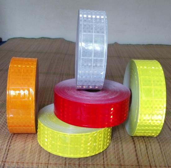 5cm*50m High Visibility Flashing Warning Safety Reflective PVC Tape Reflective Vest strip PVC  Reflective Material