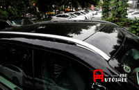 For Land Rover Discovery Sport 2015 2016 Metal Silver Top Roof Rack Rails Bars 1set