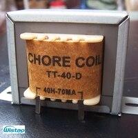 Amplificador de tubo de Bobina de choque 40 H 70mA Japones Filtro de Acero de Silicio Z11 de Una Sola terminal Amplificador de Audio HIFI DIY