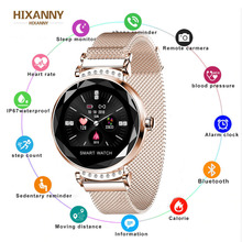 Smart watch H2 Waterproof Women ladies fashion Smartwatch Heart rate monitor Fitness Tracker For android and IOS PK H1 Q1 Q9 focusmart 1 0inch q1 women smart watch simple classic waterproof round smartwatch fitness tracker band for women smart watches