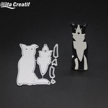 Glita Creatif Lovely Dogs Metal Cutting Dies Metal Cutting Dies and stamps DIY Scrapbooking Card Stencil Paper Craft Handmade(China)