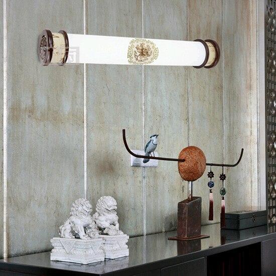 Stile cinese squisito intagliato cornice in legno lampade da parete breve caldo lampada - Lampade da bagno a parete ...