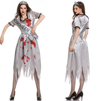 Dead Princess Cosplay Costumes Halloween Scary Miss World Ghost Bride Costumes for Women Adult Cosplay Lady Zombia Dress XL