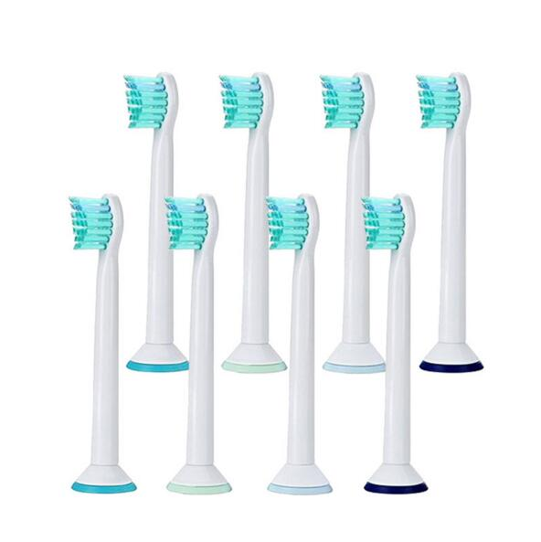 8pcs HX6024 Generic Electric Sonic Replacement Brush Heads Fits For Philips Sonicare Toothbrush Heads Compact Soft Bristles image
