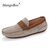 MangoBox Black Men Designer Shoes Gray Khaki Men Driving Sneakers Personality Mans Fashion Shoes Anti Slip