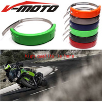 Motorcycle Accessories Silencer Round Oval Exhaust Protector Protect Can Cover For KAWASAKI Ninja300R NINJA 300R Fit