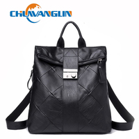 Chuwanglin Washed leather women backpack fashion new travel bags preppy style school bag feminine Daily backpack C020607