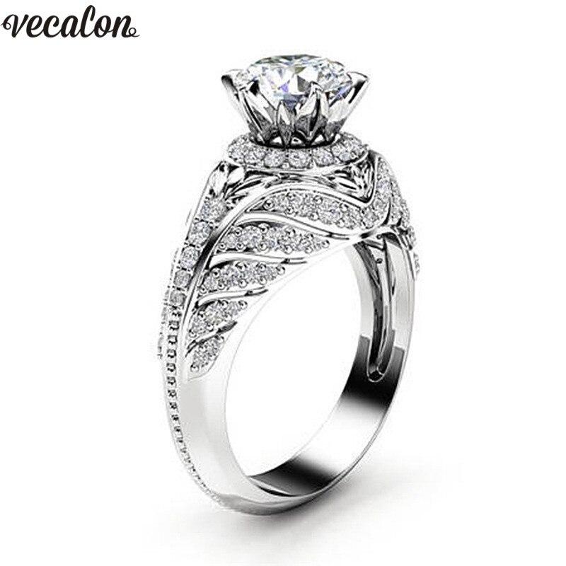 Aliexpress.com : Buy Vecalon Unique Design ring AAAAA Cz ...