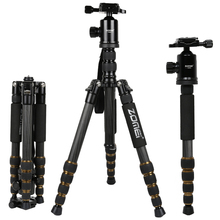 Zomei Z699C Professional Camera Tripod  Carbon Fiber With Ball Head For DSLR Photography Travel Photo Extendable Tripode