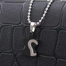 Heart Puzzle Couple Necklaces 316L Stainless Steel Necklace for Men Women Fashion Style