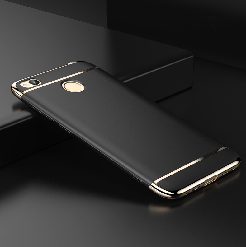 Original Slenky 3 IN 1 Luxury Full Coverage Matte plastic Case for Xiaomi Redmi 4X (5.0) Hard PC Plating Protector Cover