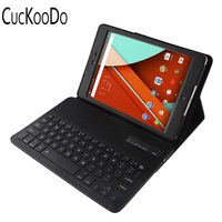 Lightweight Ultra Slim Shell Stand PU Leather Case With Romovable Bluetooth Keyboard For 8 9 HTC