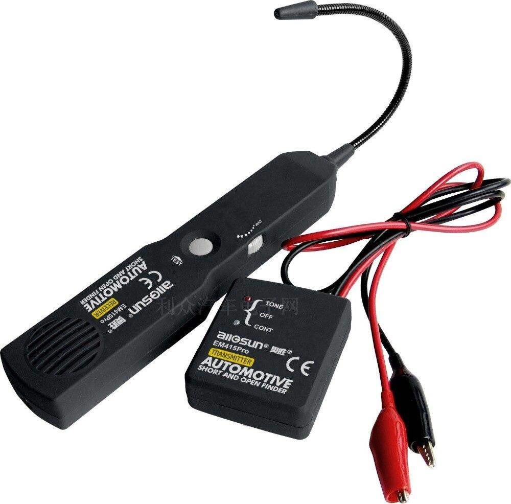 Fil de câble automobile court trouveur ouvert testeur d'outil de réparation de voiture numérique outil de Diagnostic traceur détecteur de ligne de tonalité EM415pro
