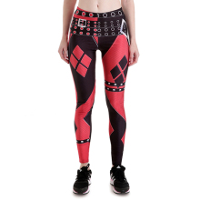 Harley Quinn Cosplay Printed Elastic Slim Fitness Costume Workout Leggings
