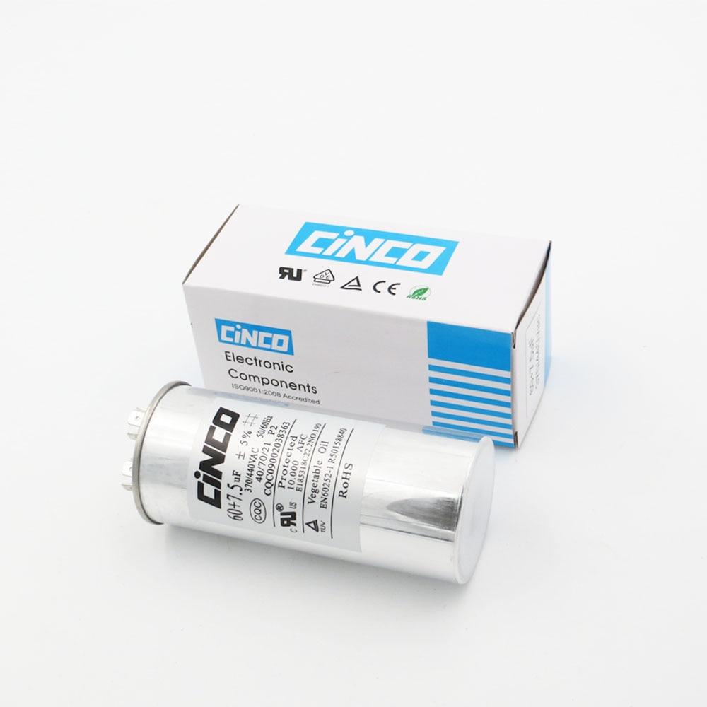 7,5 Uf 370/440vac Run Kondensator Klimaanlage Kompressor Motor Start Kondensator Cbb65 Aluminium Können P2 Cbb65a-1 370 V 440 V Mit Einem LangjäHrigen Ruf 60 Uf Home
