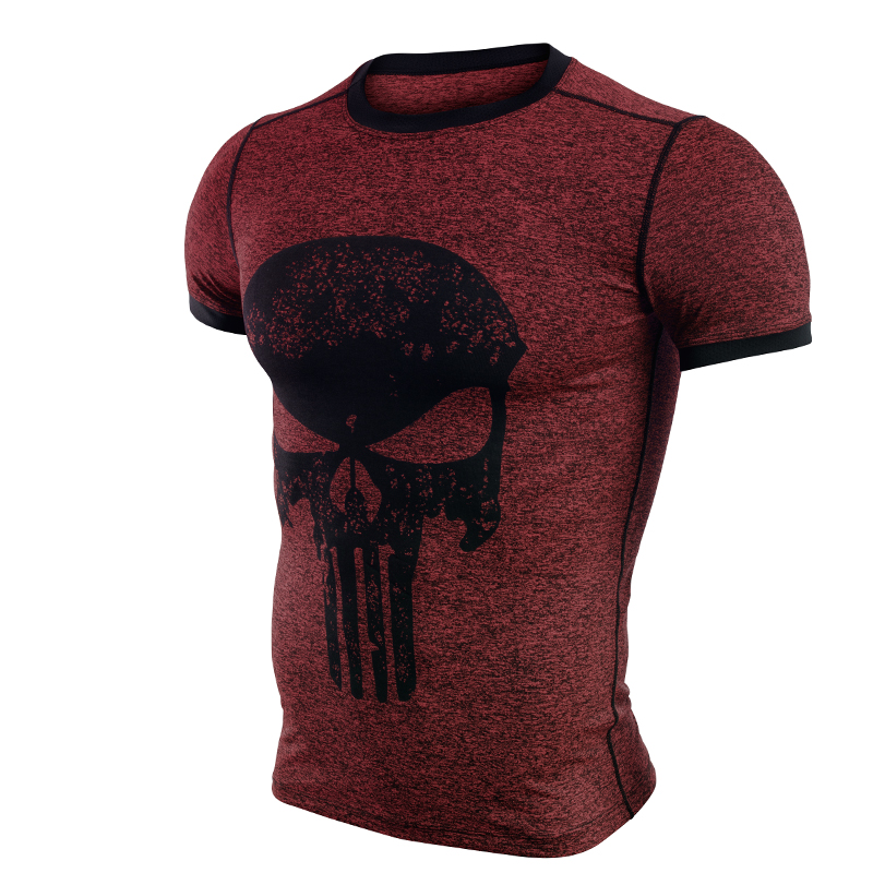 New fitness compression shirt men anime superhero punisher skull captain americ superman 3d t shirt bodybuilding crossfit tshirt-3