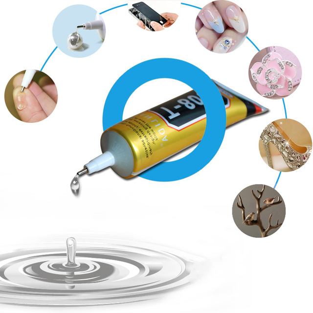 DIY 15 ml נוזל תעשייתי T8000 סופר דבק T-8000 חזק אפוקסי שרף דבק עבור קריסטל קרפט ריינסטון טלפון מסך