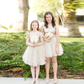 Curto Vestidos Da Menina de Flor vestido daminha Ouro Lantejoulas Mangas Curtas Pageant Comunhão Vestido Para Menina Miúdos Vestidos de Noite Casamento
