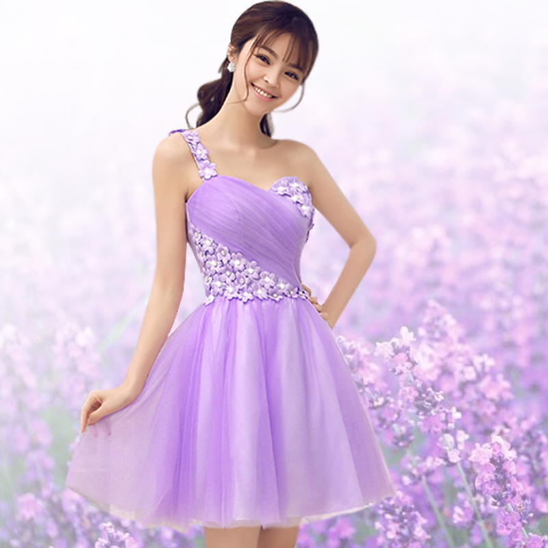 Light purple short dress ejn dress for Light purple wedding dress