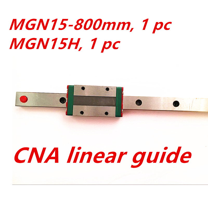 Free shipping 15mm Linear Guide MGN15 800mm linear rail way MGN15H Long linear carriage for CNC