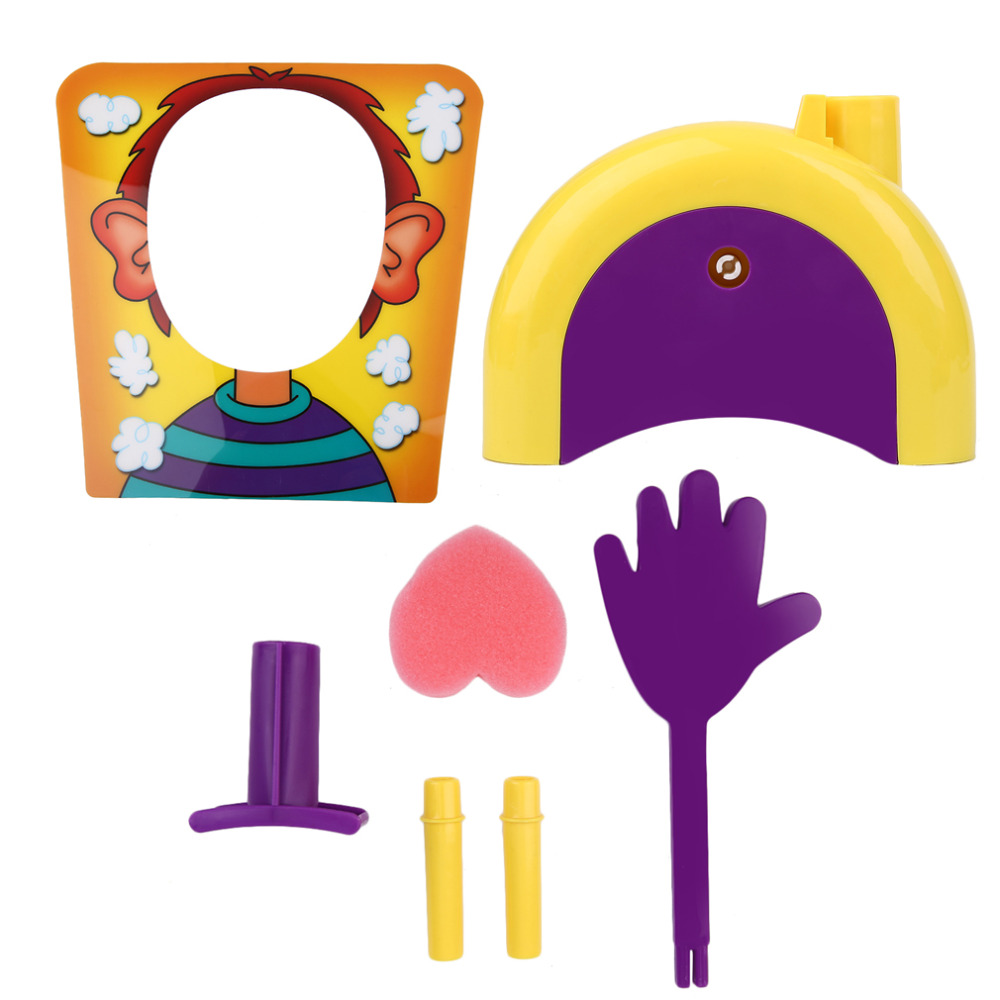 PIE double cream hit face Kits table game tool Tricky Toys Tool Cream Face kit Hit The Face Machine Toiletry Pie Hit Face Set