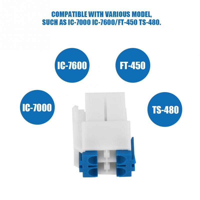 A Set 4 Pin DC Power Socket Connector for Yaesu FT 450 FT 991