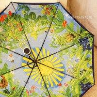 Ücretsiz kargo Totoro şemsiye ghibli şemsiye Japonya Hayao Miyazaki, Güneş katlanır şemsiye uv koruma güneş kremi için malzeme