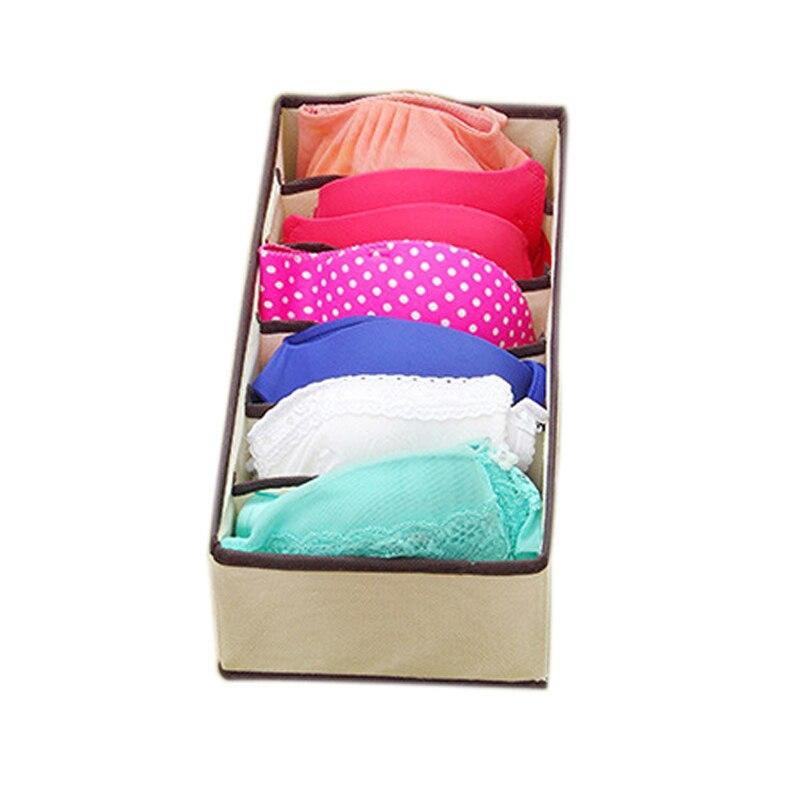 4PCS Nonwoven Collapsible Underwear Storage Box Bra Underwear Socks Drawer Divider Container Closet Organizers