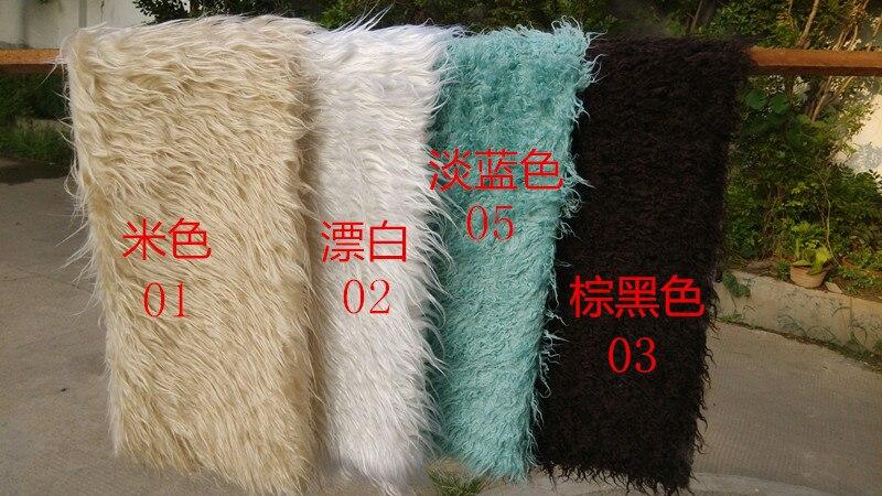 (150*100 cm) Faux fourrure couverture panier étouffant mongolie fourrure photographie accessoires nouveau-né photographie accessoires