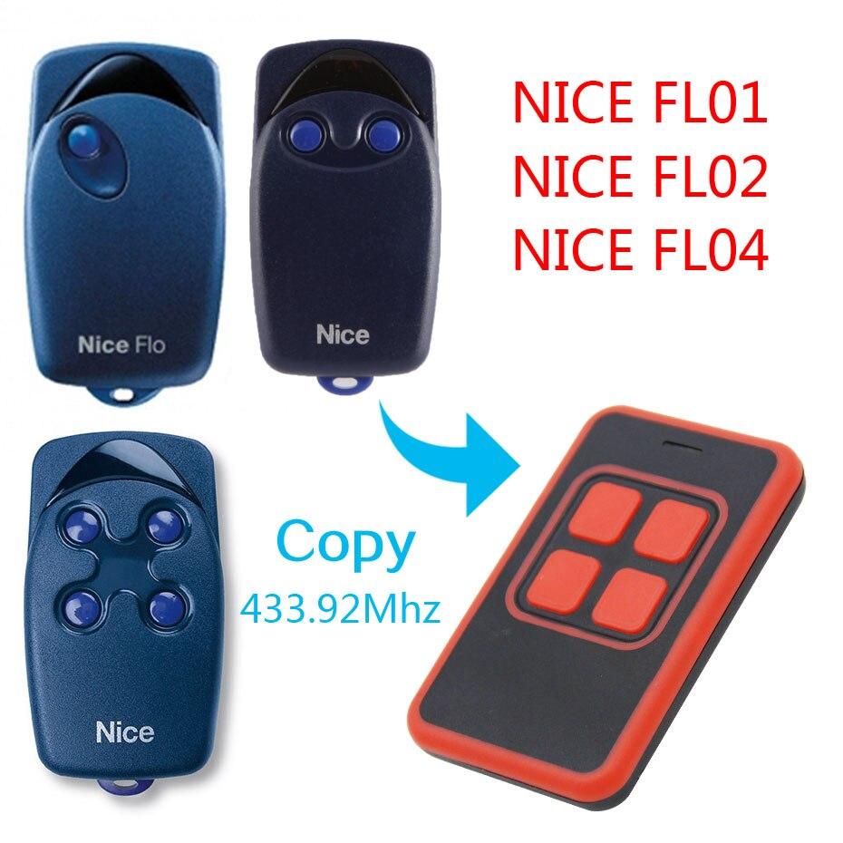 NICE FLO1, FLO2, FLO4 Garage Door/Gate Remote Control Replacement/Duplicator remote control universal gate door remote control nice flo2r s replacement garage door opener remote control
