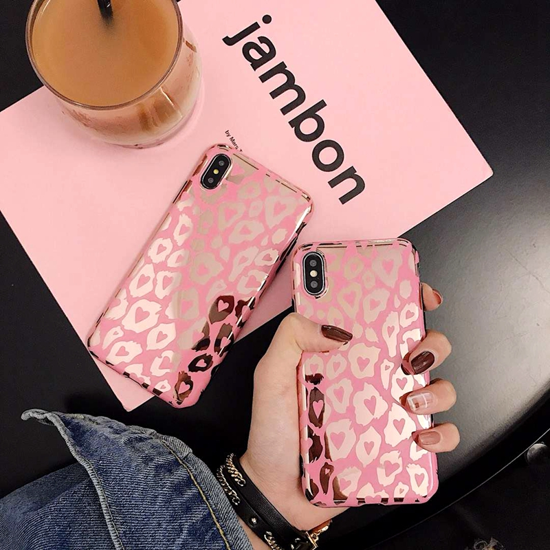 Lovebay Leopard Print Gold Blocking Phone Case Cover For Iphone 11 Pro XS Max XR X 8 7 6 6S Plus Soft Back Cases Fashion Shell