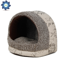 Winter Warm Paw Style Dog Bed Pet Dog House Lovely Soft Suitable Pet Cusion High Quality Products Free Shipping