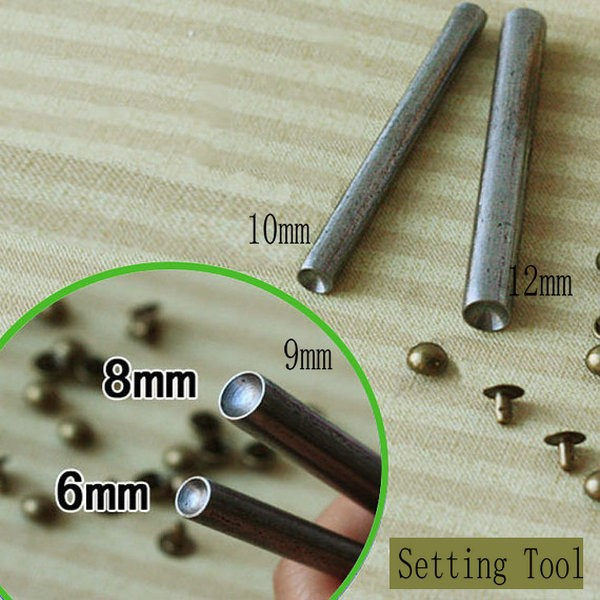 Metal Setting Tools For Round Cap Rivets Cap size 6mm, 7mm, 8mmMetal Setting Tools For Round Cap Rivets Cap size 6mm, 7mm, 8mm