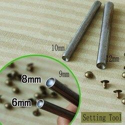 Metall Einstellung Werkzeuge Für Runde Kappe Nieten Kappe größe 6mm, 7mm, 8mm