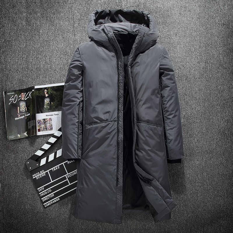 76ff5873f21 Fashion Long warm winter Jacket Men s waterproof clothing male cotton  autumn coat quality white duck down