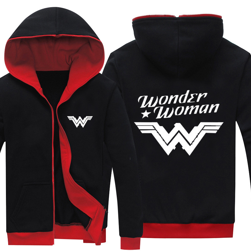 Wonder Woman Unisex Winter Sweatshirts Thicken Hoodie Coat Jacket New